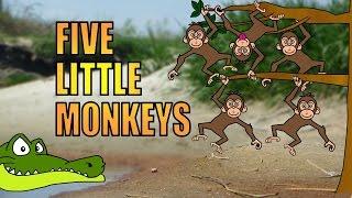 Cartoon a Swinging monkey tree from