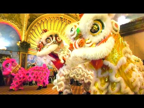 2016 Lion Dance - Empire Garden Restaurant (Opening & First Performance) Boston Chinatown