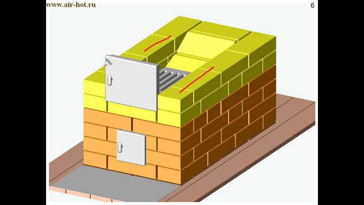 Отопительная печь 51х89 см В. Быкова
