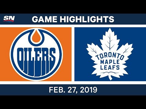 NHL Highlights | Oilers vs. Maple Leafs - Feb 27, 2019