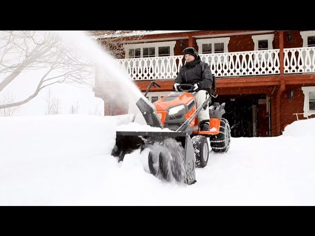 How To Attach Tractor Mounted Snow Thrower  Craftsman