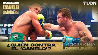 Resumen: 'Canelo' demuestra un DOMINIO TOTAL   'Canelo' vs Saunders   TUDN