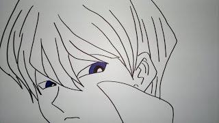 How to draw Seto Kaiba.瀬戸海馬描画する方法.