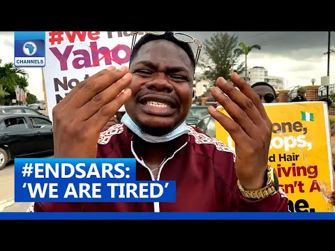 'We Are Tired End SARS Now', Mr. Macaroni Joins Protest Against Police Brutality