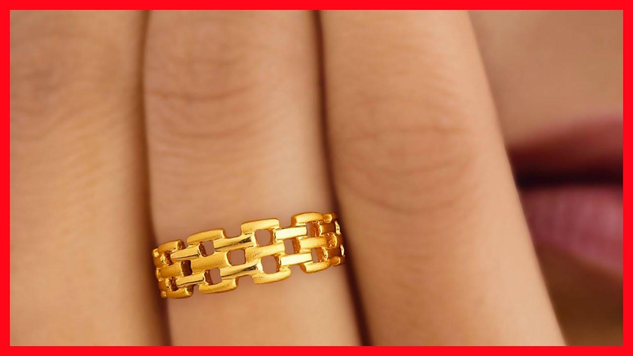 Gold Finger Rings Designs For Females Youtube