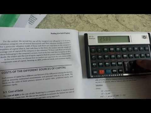 Cost of debt, YTM calculation using Financial Calculator HP 12C