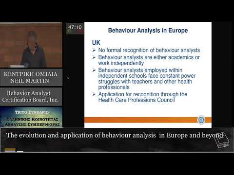 The evolution and application of behaviour analysis in Europe and beyond