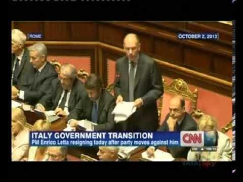 Italian PM Enrico Letta to resign