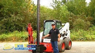 Skid Steer Boom Brush Cutter Attachment - Eterra Raptor Boom Arm & Sickle Bar Cutter