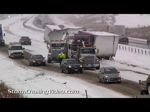 11/26/2014 Interstate 35 - Medford, MN Traffic Nightmare