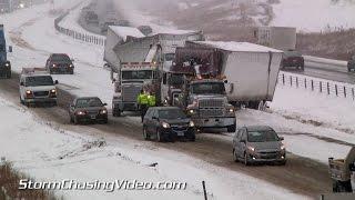 11 26 2014 interstate 35 medford mn traffic nightmare lots of crashes