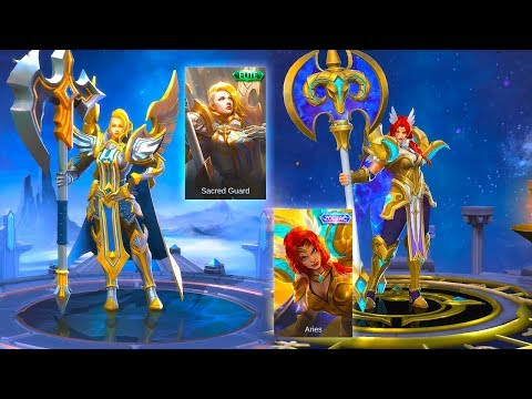 Hilda Aries Zodiac Skin VS Sacred Guard Elite Skin | Mobile legends : Bang Bang thumbnail