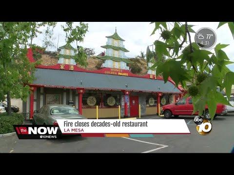 Fire closes decades-old restaurant in La Mesa