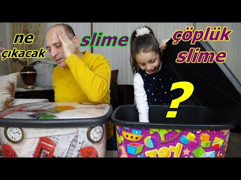 Kutudan Ne Çıkacak Slime Challenge Çöplük Slime | Eğlenceli Çocuk Videosu