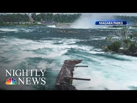 Simon Conway - FREE! Boat stuck at Niagara Falls for more than 100 years comes loose!
