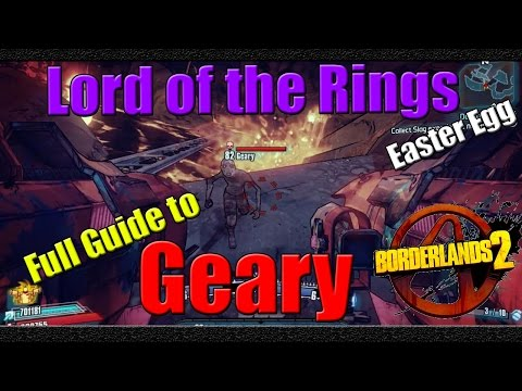 Borderlands 2   Lord of the Rings Easter Egg   Full Guide to Geary