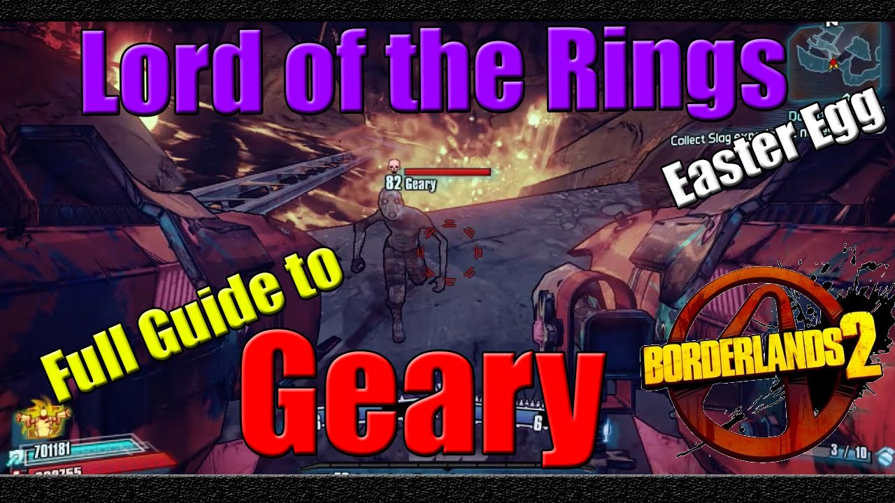 Borderlands 2 | Lord of the Rings Easter Egg | Full Guide to Geary on