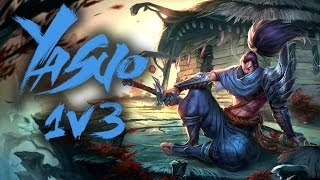 Yasuo OP defending last Nexus Turret 1v3 | LEAGUE OF LEGENDS - LoL Epics