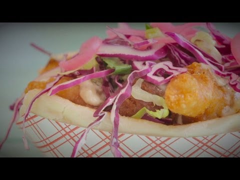 Generate Bud Light Battered Fish Po' Boy at Motorboat and The Big Banana - NY CHOW Report Snapshots