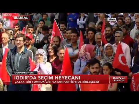 Doğu Perinçek mitingde konuştu: Iğdır'da birleşiriz Türkiye'yi birleştiririz