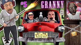 Granny's Car Hiding   Trapping Her!! Hello Neighbor Helps Duddy & Fortnite Invades Game! (fgteev #5)