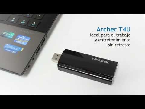 Adaptador inalámbrico USB de banda dual AC1200 Archer T4U