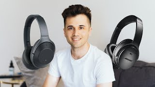 Bose QuietComfort 35 II vs Sony WH 1000Xm2 | Wireless Noise Canceling Headphone Test Comparison