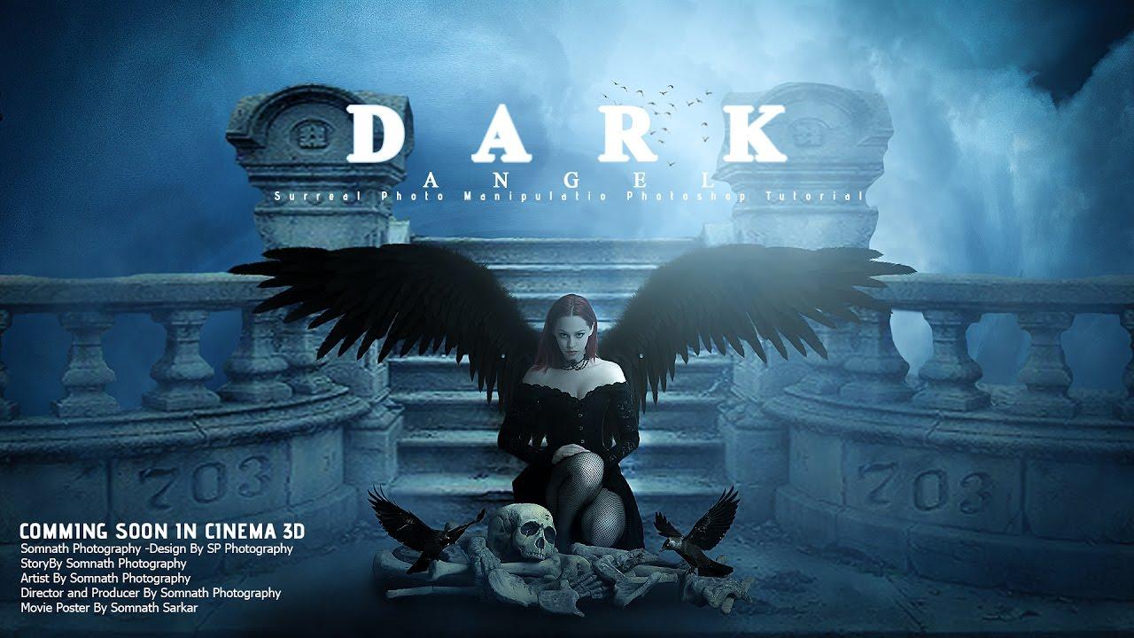 3d poster design tutorial - Make Movie Poster Design Photoshop Manipulation Tutorial Dark Angel