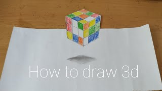 How to draw 3d art, tutorial video