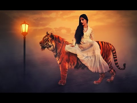 Big Tiger With Girl ❤ In Photoshop cc Tutorial