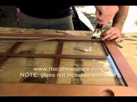 Installing Mullion Doors On Rta Kitchen Cabinets Youtube
