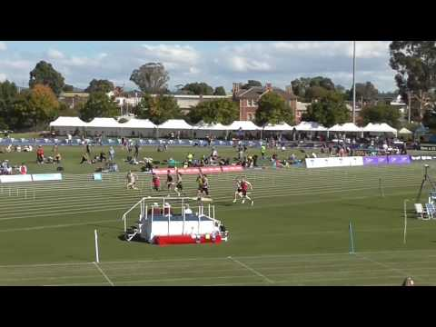 Stawell Gift 2017 - 100m Under 17 Boys Final, won by Jake Ireland