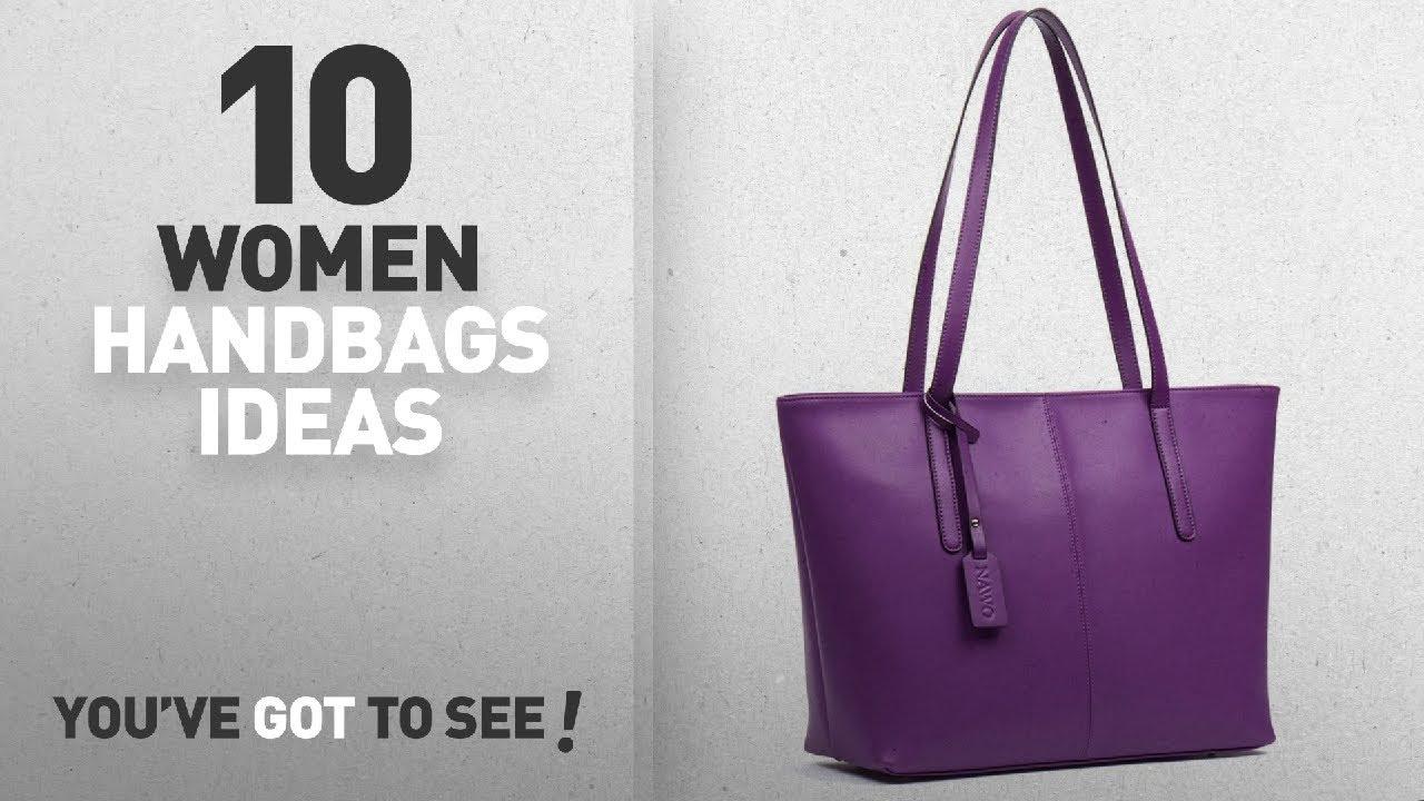 Top 10 Purple Handbag   Winter 2018    NAWO Women s Leather Designer ... 90cfe3bc99087