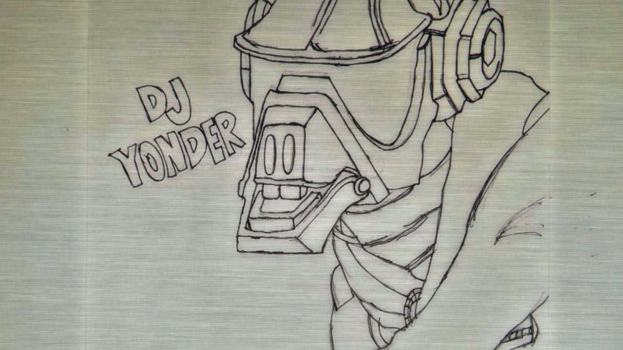 Fortnite Dj Yonder Speed Draw Pencil Art Youtube