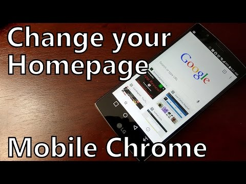 How to Change Your Homepage in the Mobile Chrome Browser on Android