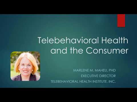 Telebehavioral Health and the Consumer Webinar