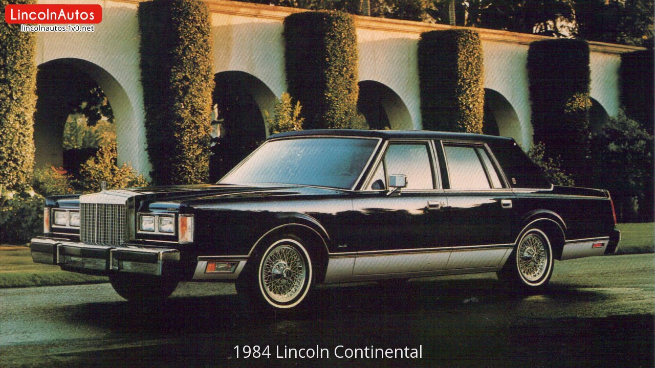 1984 lincoln continental youtube