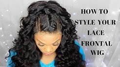 HOW TO STYLE YOUR LACE FRONTAL WIG | INEFFABLE TRESSES | LUXE WAVE