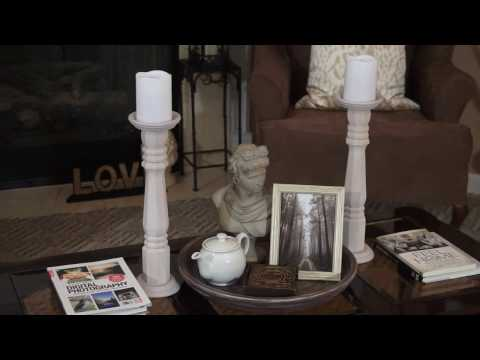 DIY   Elegant Tall Candle Holders   Pottery Barn   Rustic