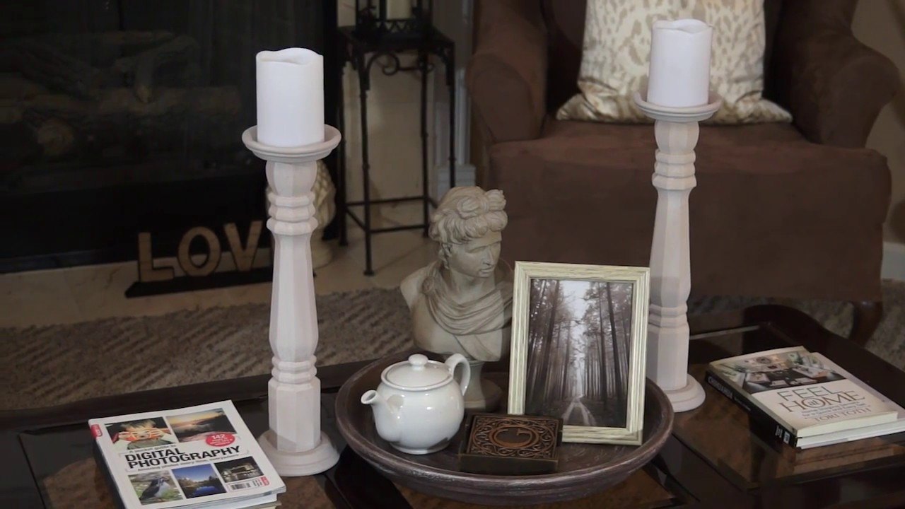 Ideal DIY | Elegant Tall Candle Holders | Pottery Barn | Rustic - YouTube EO63
