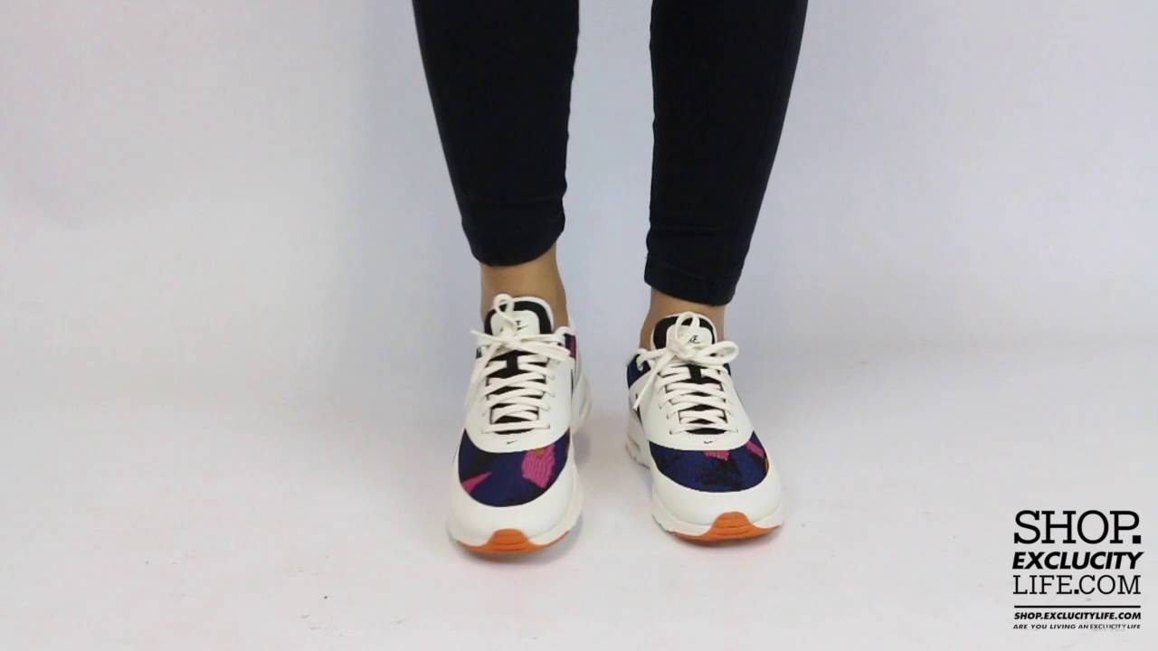 45d3ed92f3 Women's Nike Air Max Thea JCRD Blue Pink On feet Video at Exclucity ...