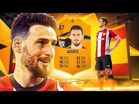IS HE WORTH IT?! 87 EUROPA LEAGUE MOMENTS ADURIZ PLAYER REVIEW! FIFA 19 Ultimate Team
