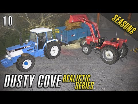 Realistic Farming Simulator 17 | WINTER | Dusty Cove | Day Ten