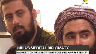 Yemeni citizens arrive in India for medical help
