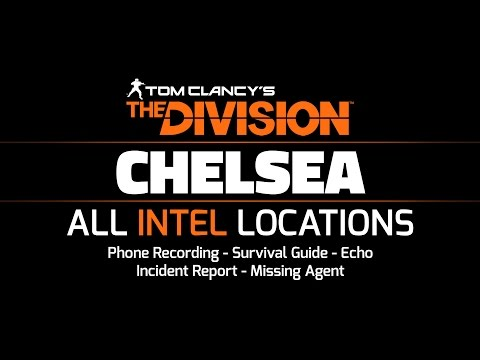 The Division Beta - Chelsea - All Intel Locations