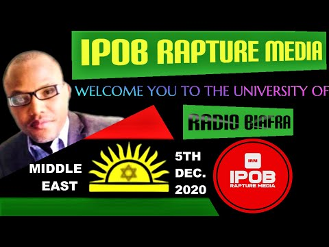 IRM: Welcome To Radio  Biafra MIDDLE EAST Live Broadcast Dec, 5Th 2020 | By Obilo