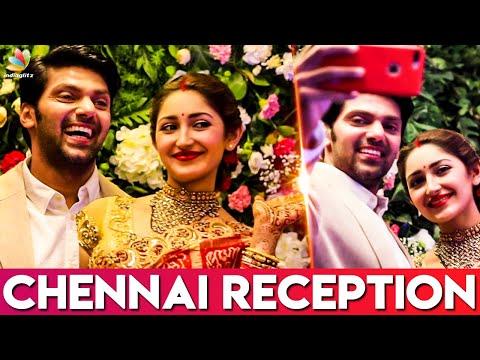 Arya and Sayyesha's Chennai Wedding Reception   Actor Bharath, Director AL Vijay