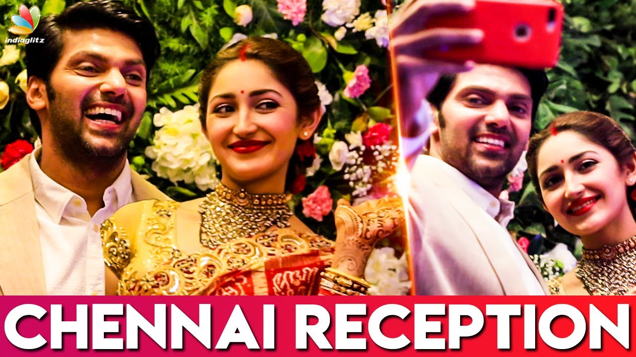 Arya and Sayyesha's Chennai Wedding Reception | Actor Bharath, Director AL  Vijay