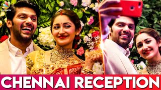 Arya and Sayyesha's Chennai Wedding Reception | Actor Bharath, Director AL Vijay