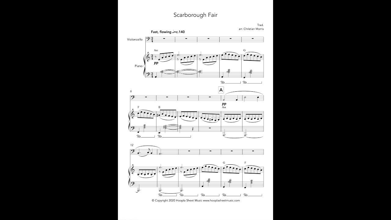 Scarborough Fair (Cello) - YouTube